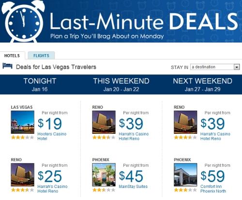 Last minute deals usair